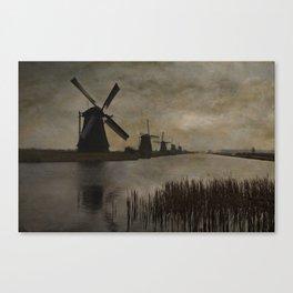 Windmills at Kinderdijk Holland Canvas Print