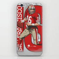 nfl iPhone & iPod Skins featuring NFL Legends: Joe montana 49ers by Akyanyme