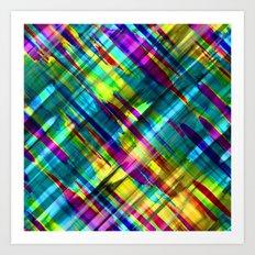 Colorful digital art splashing G72 Art Print