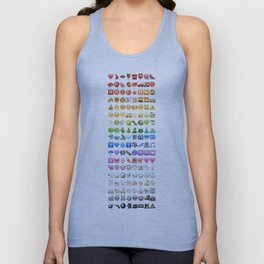 Emoji icons by colors Unisex Tank Top