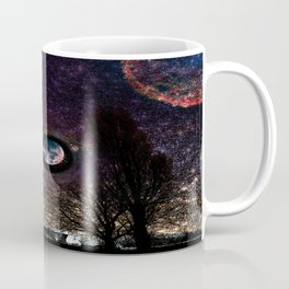Surreal celestial landscape Coffee Mug