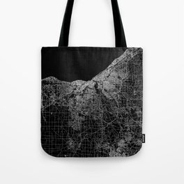 Cleveland map Ohio Tote Bag