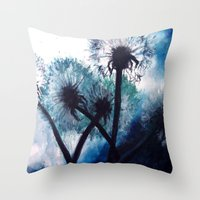 coconut wishes Throw Pillows featuring Wishes by Lydia Martin