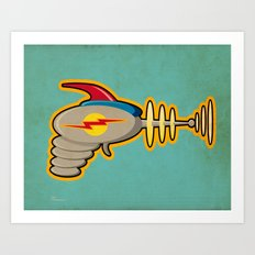 Retro Ray Gun Art Print