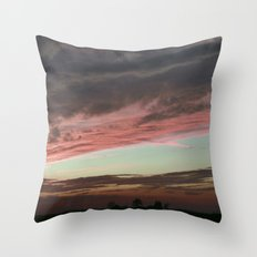 Pink Sunset, Macomb IL Throw Pillow
