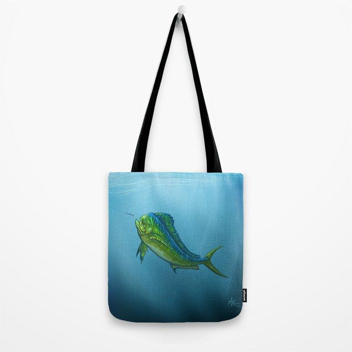 """El Dorado"" by Amber Marine ~ Mahi Mahi / Dolphin Fish Art, (Copyright 2015) Tote Bag"