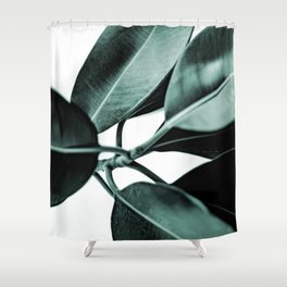 Minimal Rubber Plant Shower Curtain