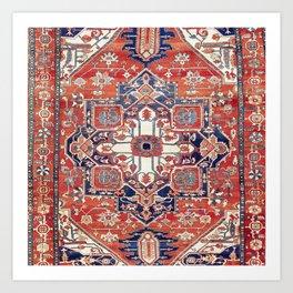 Heriz Azerbaijan Northwest Persian Rug Print Art Print