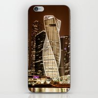 moscow iPhone & iPod Skins featuring Moscow city by Vlad&Lyubov