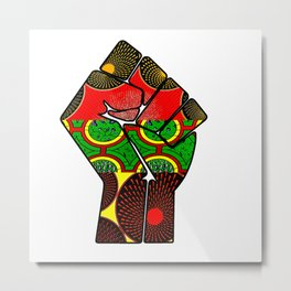 Rasta themed Power Fist Metal Print
