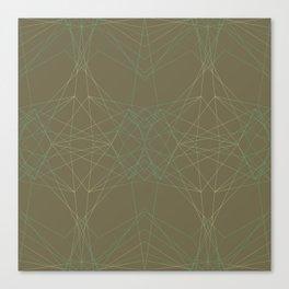 LIGHT LINES ENSEMBLE MARTINI OLIVE-2 Canvas Print