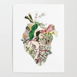 Vintage Botanical Heart Poster