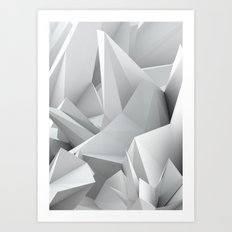White Noiz Art Print