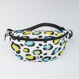 Blue and Yellow Leopard Print Fanny Pack