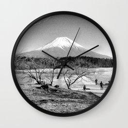 mt fuji Wall Clock