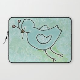 aqua bird Laptop Sleeve