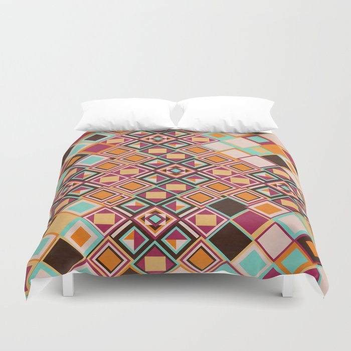 Old Quarter with Texture Duvet Cover