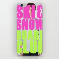 snowboard iPhone & iPod Skins featuring WHS Ski and Snowboard Club by slothcats