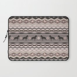 Boston Terrier - Decorative Pattern in pastels Laptop Sleeve