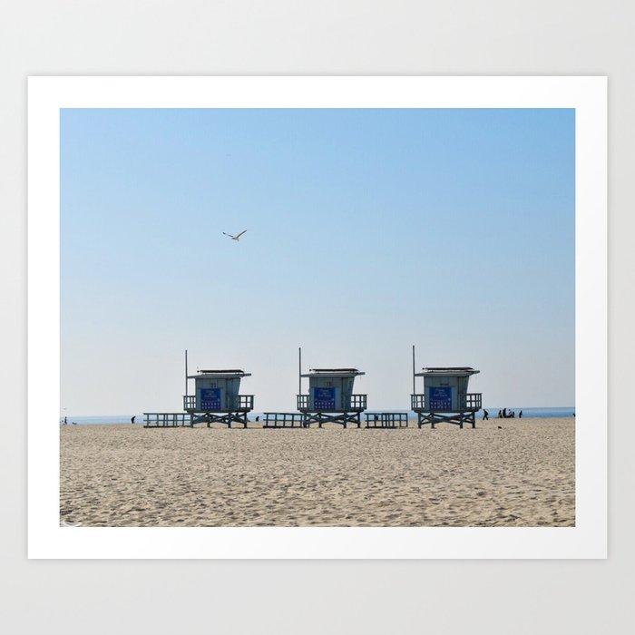 Venice Beach Views Art Print