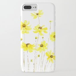 yellow cosmos flowers watercolor iPhone Case