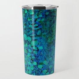 Peacock Watercolor Painting Travel Mug