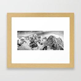Denali Massif from the Air - Denali & Foraker Framed Art Print