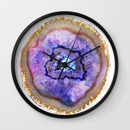 Opal and Gold Agate Wall Clock