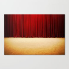 Theater stage curtains Canvas Print
