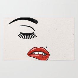 GIRL FACE - EYE - LIPS Rug