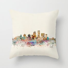 louisville kentucky skyline Throw Pillow