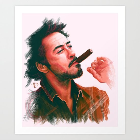 Mr Downey, Jr. Art Print