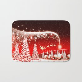 Santa Christmas Bath Mat