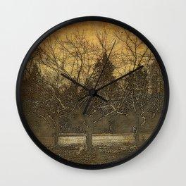 Halloween | The Three Sisters | 3 Haunting Trees | Nadia Bonello Wall Clock