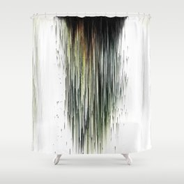 Planet Pixel Dust Up Shower Curtain