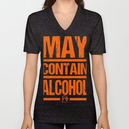 Beer Could Contain Alcohol Gifts For Beer Lovers Unisex V-Neck