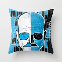walter white Throw Pillows featuring Walter White by Micah Lanier