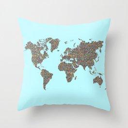 Slum World Throw Pillow