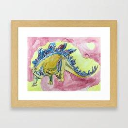 Stegosaurus Geode Framed Art Print