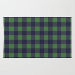 Blue And Green Lumberjack Rug