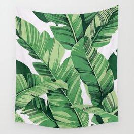 Tropical banana leaves V Wall Tapestry