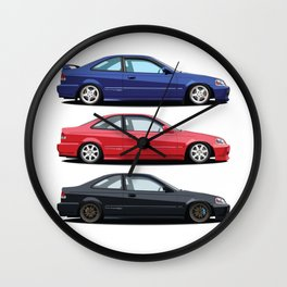 Civic Si and Friends Wall Clock
