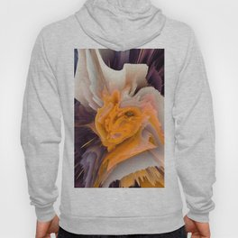 orange 3d flower Hoody