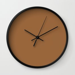 Plain Skin Tone Deep Neutral 13 Solid Color Block Wall Clock