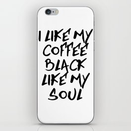 Black like my soul iPhone Skin