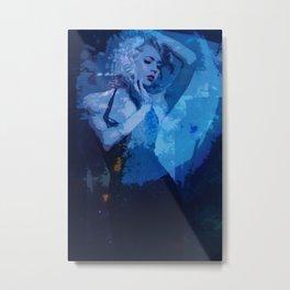 blue noir Metal Print