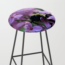 Busy Bee in Lilac Art Photography Bar Stool