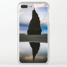 Sea Stack Reflection at Sunset Clear iPhone Case