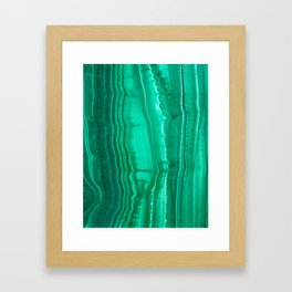 Malachite Stone Framed Art Print