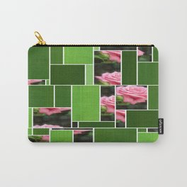 Pink Roses in Anzures 3 Art Rectangles 12 Carry-All Pouch